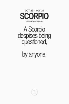TheZodiacVibes - Vibe with your sign, so true! my girls Taurus And Scorpio, Scorpio Zodiac Facts, Scorpio Traits, Zodiac Signs Scorpio, Libra Love, Scorpio Woman, My Zodiac Sign, Funny Scorpio Quotes, Scorpio Personality