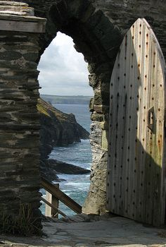 Through the Arched Door, Tintagel Castle, Cornwall, UK via Flickr.