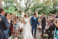 A stunning destination wedding in France that is both equally beautiful and fun. Celebrity Weddings, Destination Wedding, France, Toulouse, Beautiful, Celebrities, Hair Styles, Annie, Salmon