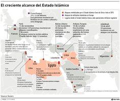 La aterradora expansión del Estado Islámico en el mundo.