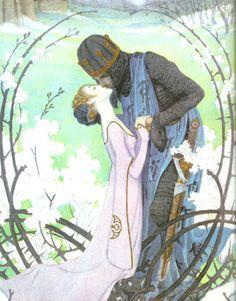 Sleeping Beauty, from Heinrich Lefler and Joseph Urban's fairy-tale calendar, 1905.