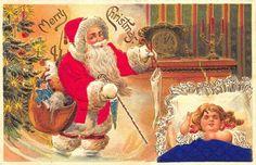 Silk Suited Santa Claus