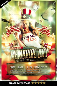 memorial day flyer samples