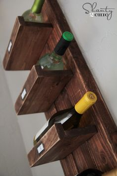 Wine Rack Informations About Furniture Plans & Affordable DIY Woodworking Projects - Sha Kreg Jig Projects, Woodworking Projects Diy, Wood Projects, House Projects, Shanty 2 Chic, Rustic Wine Racks, Wine Rack Wall, Wine Bottle Holders, Weekend Projects