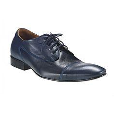 Pánske kožené spoločenské topánky modré 535 - manozo.hu