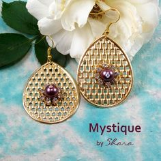 Swarovski pearls make this earrings beautiful. Wear this statement piece in this festive season. This pair is for all your life's celebrations. Swarovski Pearls, Celebrations, Festive, Crochet Earrings, How To Make, How To Wear, Pairs, Drop Earrings, Beautiful