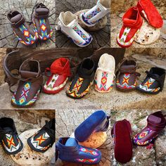 Our Lil Toes collection Baby & Toddler Moccasins are available at www.LLDesignsStore.com #babymoccasins #beadwork #Beadedmoccasins #footwear #moccasins #nativemade #love #heirloom #LLDesigns #liltoescollection