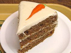 Turns out carrot cake is hubby's favorite.  Made this one for his birthday, and everyone loved it.  Moist and super carrot-y flavor.  Used a different cream cheese frosting.