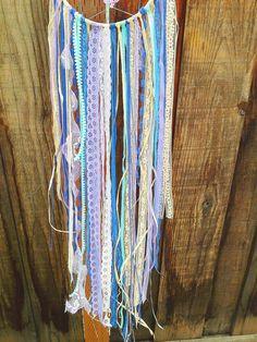 Mint Lavender & Royal Blue Doily Dream by StylishStuffBySteph