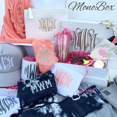 My newest monthly subscription is to MONOBOX. You get three items every month and one of them is monogrammed and the other two are jewelry. So far I am loving the subscription service. It's a lot like Birchbox and ipsy. So if you are a monogramming fool like me, it's totally worth it. It's $21.95 month and you can cancel anything. No contract! Aimee