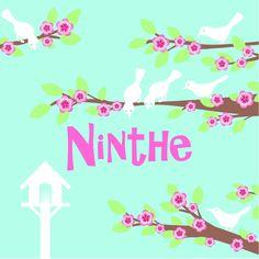 Ninthe birth card front by Josien van Brussel