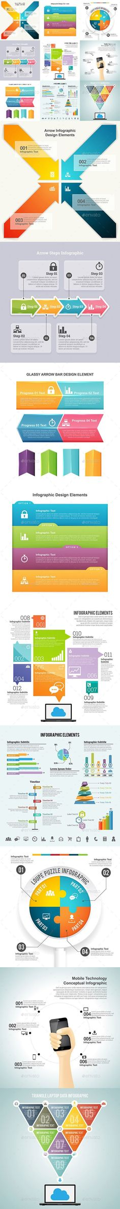Infographic Set Templates PSD, Vector EPS, AI #design Download…