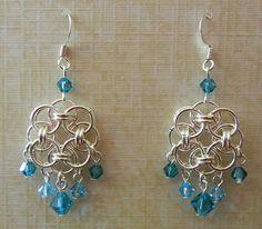 Celtic Helm Dreamcatcher Chainmaille Earrings by RavenheartLtd