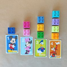 Thanks to LEGO® DUPLO® for sponsoring this article. Help your little one learn to count with these printable number flash cards featuring Mickey, Minnie, Pluto and friends.