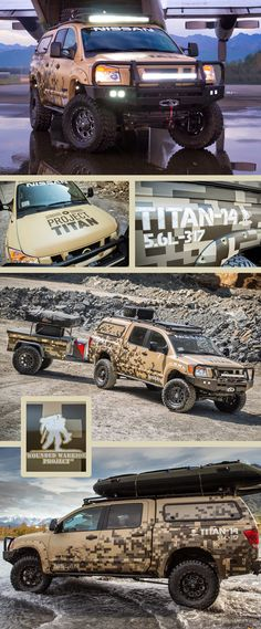 Check out this awesome wrap on a Nissan Titan for a great cause, Wounded Warrior Project by Sticky Fingers Design. http://www.stickyfingersdesign.com/   Material used: 3M IJ180Cv3 and 8520