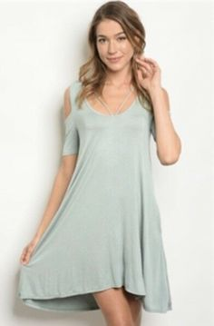 a9aa94e519dd2b Long Sleeve Sage Peep Shoulder Dress. Size Medium. People Are Free  Boutique. #