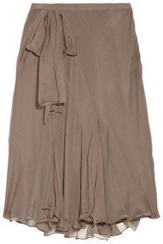 Raquel Allegra  Printed silk-georgette maxi skirt    Vionnet  Cotton eyelet skirt    Jil Sander  Wool and cashmere-blend skirt  ALBERTA FERRETTI  Silk-chiffon and crepe skirt
