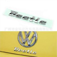 Hot Auto Pièces De Rechange De Voiture Accessoire Lettre Bagde Emblème Chrome Décalque De Voiture Autocollant Pour VW VOLKSWAGEN Beetle