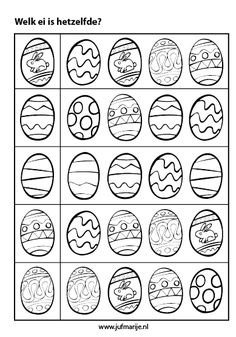 Crafts,Actvities and Worksheets for Preschool,Toddler and Kindergarten.Lots of worksheets and coloring pages. Easter Worksheets, Easter Printables, Worksheets For Kids, Easter Art, Easter Crafts, Crafts For Kids, Easter Eggs, Easter Colouring, Egg Coloring