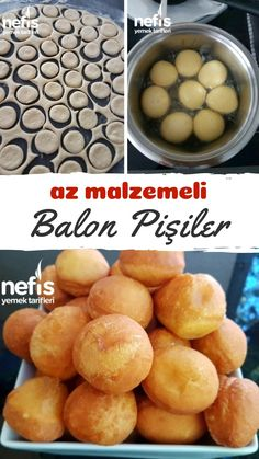 Sadece İki Ana Malzemeyle Balon Pişiler – Nefis Yemek Tarifleri Vejeteryan yemek tarifleri – The Most Practical and Easy Recipes Homemade Donuts, Donut Glaze, Fish And Seafood, Easy Cooking, Diy Food, Family Meals, Delicious Desserts, Biscuits, Food And Drink