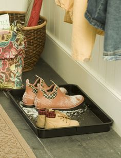 Small Boot Tray | Buy from Gardener's Supply For in each cubby shoe section