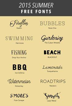 SIMPLE SANCTUARY | Free Summer Fonts | http://www.simplesanctuaryblog.com  Free Typefaces, Free Downloads, Summer Fonts, Free Fonts