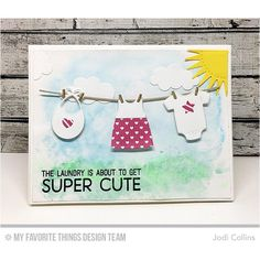 How sweet is the new Welcome, Baby set and Bundle of Baby Clothes Die-namics from #lainalambdesign @ #mftstamps !!!! #blueprints #cardmaking #dienamics #diecutting #mftstamps #onmyblogtoday #stamping #stampingalatte