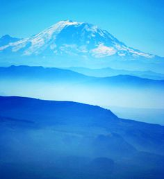 Mount Rainier- cascade range are all dormant volcanoes... part of the pacific ring of fire.