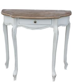 Small Half Moon Table For Hall vintage half moon side table 3 legged tableoakiesclaptrap
