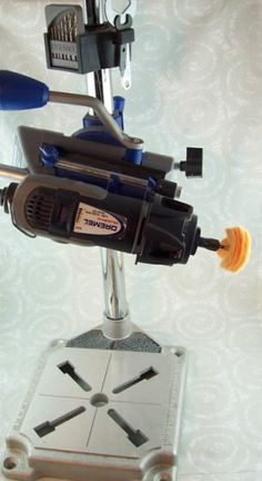Dremel setup - 2 Good Claymates #Polymer #Clay #Tutorials