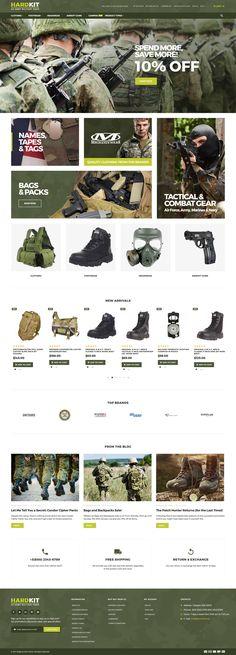 Military Equipment Magento Theme