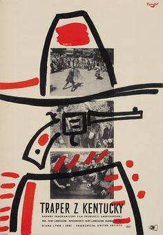 Polish poster for The Kentuckian, 1959.