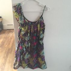 Tribal Summer dress! Adorable summer dress! Tank top/one shoulder tribal pattern dress! Like new worn a couple times still in great condition! Deb Dresses One Shoulder