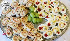Pfannkuchen-Lachs-Röllchen mit gekochten Eier Snack | FITNESS-DESSERT.DE