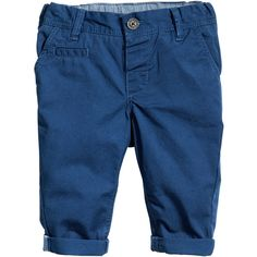 H&M Chinos $6 ($6) ❤ liked on Polyvore featuring pants, baby boy, kids, baby, boy, baby clothes, chinos pants, blue pants, chino trousers and blue chino pants