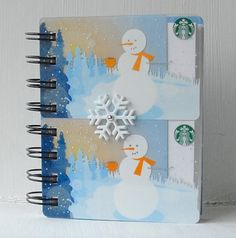 HOLIDAY STARBUCKS LARGER Upcycled Christmas by CampfireDesigns
