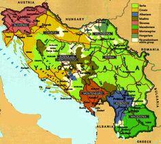 Map of Yugoslavia