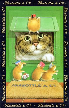 Harbottle & Co - Peter Cross Art Cool Cats, I Love Cats, Crazy Cats, Silly Cats, Art Mignon, Image Chat, Anne Geddes, Gatos Cats, Cross Art