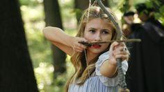 Blonde hair, blue eyes, archer, medieval