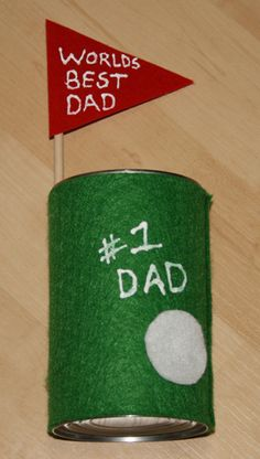 Father's Day Golf Pen Holder Craft Can also work for birthdays!