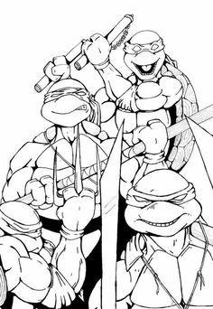 Top 25 Free Printable Ninja Turtles Coloring Pages Online