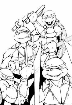 ninja turtle coloring pages | Ninja Turtles 1 coloring page ...