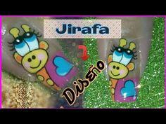 Decoración de uñas Jirafa - YouTube Flower Nail Designs, Flower Nails, Nail Art, Flowers, Youtube, Animals, Nail Art Videos, Pretty Gel Nails, Nail Designs