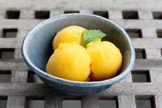 Meyer Lemon and Mango Sorbet