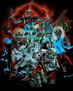Heavy Metal Art, Heavy Metal Bands, Iron Maiden Mascot, Zombie Art, Greatest Rock Bands, Judas Priest, Ozzy Osbourne, Rock Legends, Scary Movies