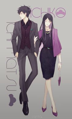 Ichimatsu and Ichiko Anime W, Anime Couples Manga, Chica Anime Manga, Hot Anime Boy, Anime Art Girl, Anime Guys, Anime Comics, Anime Style, Osomatsu San Doujinshi