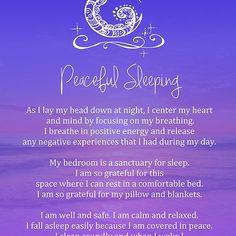 Affirmation - Peaceful Sleeping