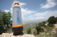 Lifesaver Bottle - Water Purification Systems...you can put any dirty, nasty water into the bottle.  The water will be drinkable.