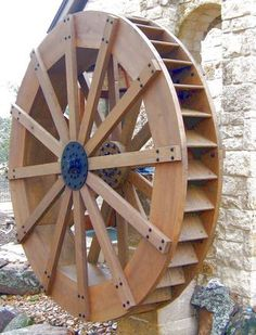 Details about amish water wheel fountain wooden garden for Garden design generator