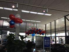 RWB Hyundai  - Balloon Man LLC #ballooncreations  #balloondesigns Balloon Man, LLC provides a service that designs and installs custom balloon displays for your indoor automotive marketing needs.